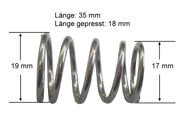 Metallfeder für Kickerstange 35 mm,