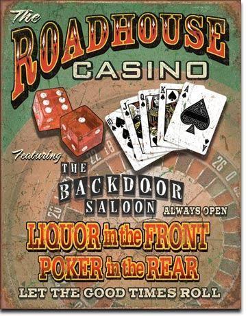 """Blechschild """"Roadhouse Casino"""""""