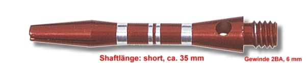 Shaft Alu Stripe short ,ca 35 mm, rot