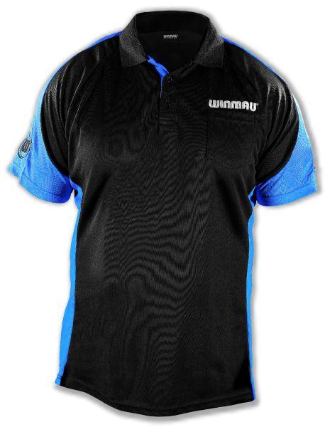 Dart Shirt Winmau Wincool 3 SCHWARZ-BLAU 8394
