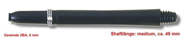 Shaft Nylon + Ring medium, ca.45 mm, schwarz