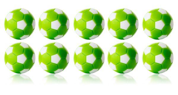 Kickerball Winspeed by Robertson 35 mm, grün / weiß, Set mit 10 St.
