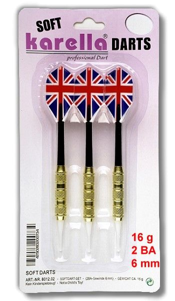 Karella Softdart Blister-Set 3 Stck. Gewinde 2BA (6mm)