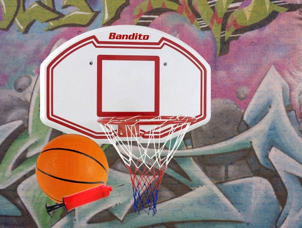 Basketball-Backboard Winner, Set inkl. B-Ball und Ballpumpe
