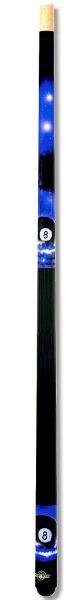 Poolqueue 8-BALL BLAU, Länge 147 cm. 2-tlg