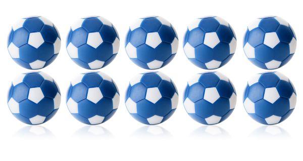 Kickerball Winspeed by Robertson 35 mm, blau / weiß, Set mit 10 St.
