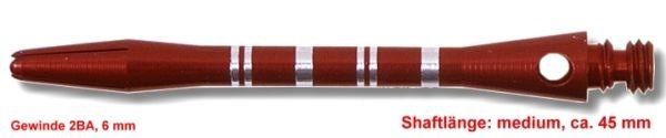 Shaft Alu Stripe medium,ca 45 mm, rot