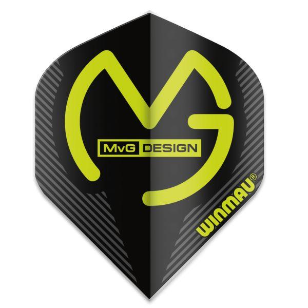 Dart-Fly Winmau MvG MEGA, Standard Form, 6900-231 schwarz