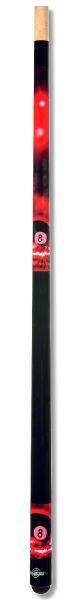Poolqueue 8-BALL ROT, Länge 147 cm. 2-tlg