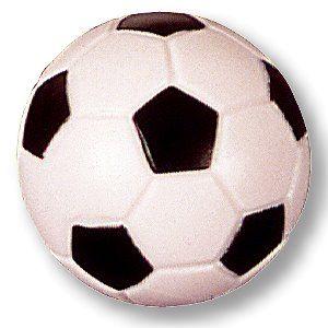 Kickerball, Fußball orig., 35 mm, schwarz/weiß, hart-griffig