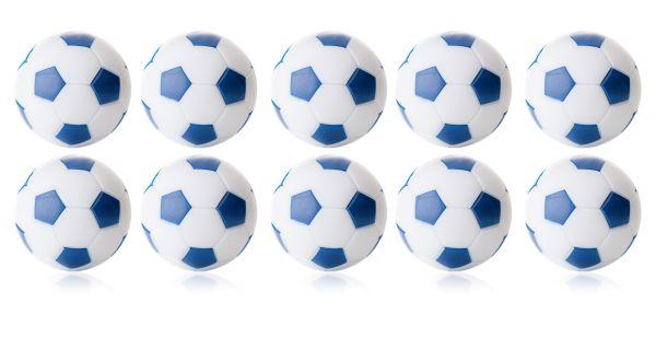 Kickerball Winspeed by Robertson 35 mm, weiß / blau, Set mit 10 St.