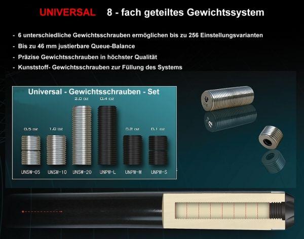 Queue UNIVERSAL GEWICHT - SCHRAUBEN-SET