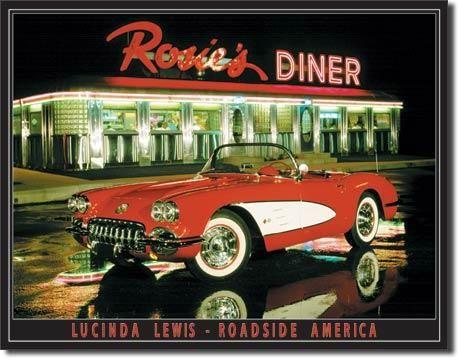 "Blechschild ""Rosies Diner"""