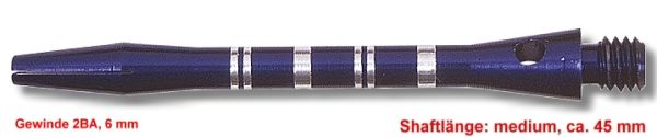 Shaft Alu Stripe medium,ca 45 mm, blau