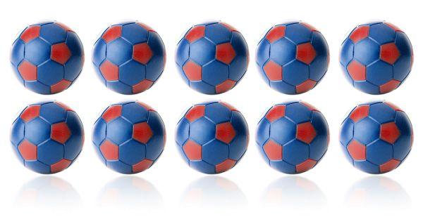 Kickerball Winspeed by Robertson 35 mm, blau / rot, Set mit 10 St.