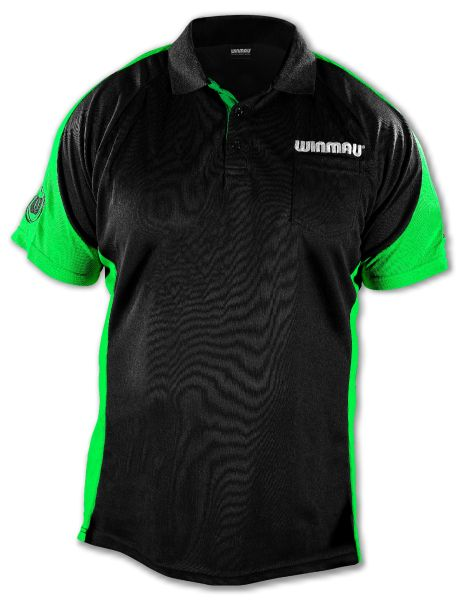 Dart Shirt Winmau Wincool 3 SCHWARZ-GRÜN 8396