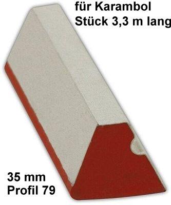 Bandengummi, KARAMBOL, 35 mm, Stück 3,3 m lang, Profil 79