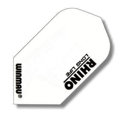Dart-Fly Winmau RHINO, Slim-Line, weiß, 6905-107