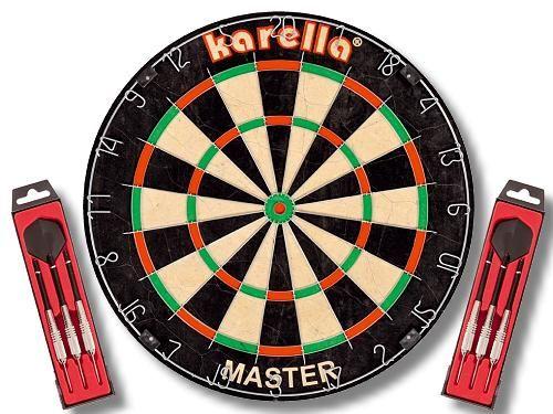 "Karella ""MASTER"" Wettkampf-Dartboard + 2 Set Steeldart ST1"