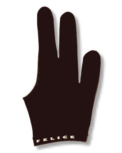 """Billard-Handschuh, FELICE """" SCHWARZ"""" , für rechte und linke Hand."""