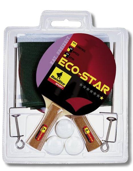 Preiswertes Komplett-Set, mit 2 Schlägern ECO -Star, 3 Qualitätsbälle * ,Inklusive Standard-Netzgarn