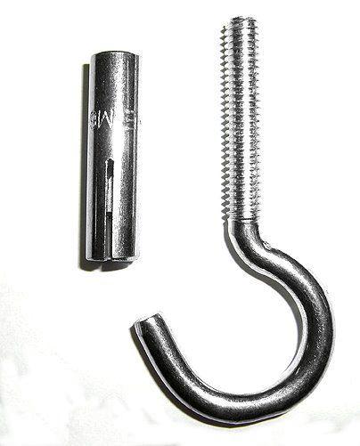 Deckenhaken mit Spezial-Metalldübel ( M-6)