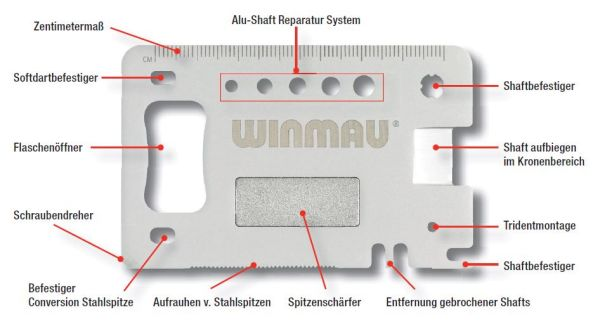 "Winmau Präzisionswerkzeug ""Multi-Tool"" Profi 8393"