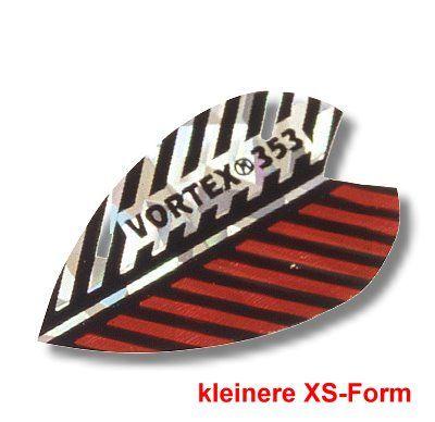Dartfly Vortex, Form XS (kleinere Form), rot-weiß