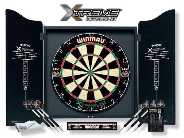"Winmau Dartboard Set ""XTREME"" inklusive Cabinet"