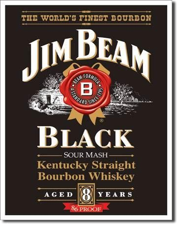 "Blechschild Jim Beam ""Black Label"""