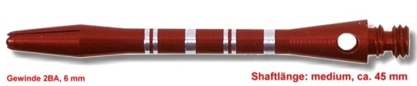Shaft Alu Stripe medium,ca 45 mm, rot
