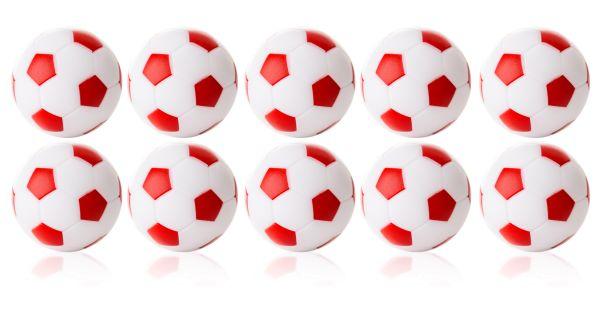 Kickerball Winspeed by Robertson 35 mm, weiß / rot, Set mit 10 St.