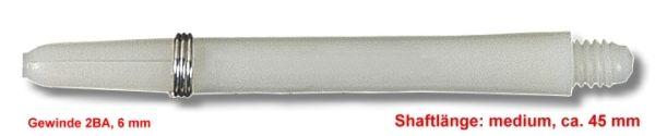 Shaft Nylon + Ring medium, ca. 45 mm, weiß