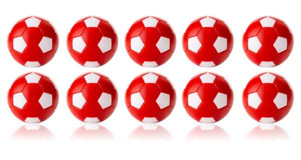Kickerball Winspeed by Robertson 35 mm, rot / weiß, Set mit 10 St.