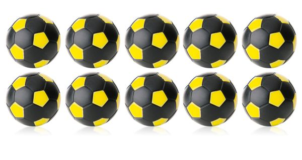 Kickerball Winspeed by Robertson 35 mm, schwarz / gelb, Set mit 10 St.