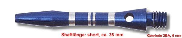 Shaft Alu Stripe short ,ca 35 mm, blau