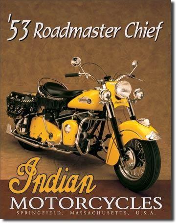 Blechschild Indian Roadmaster Chief