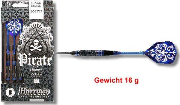 Softdart PIRATE 16 gr, 2BA