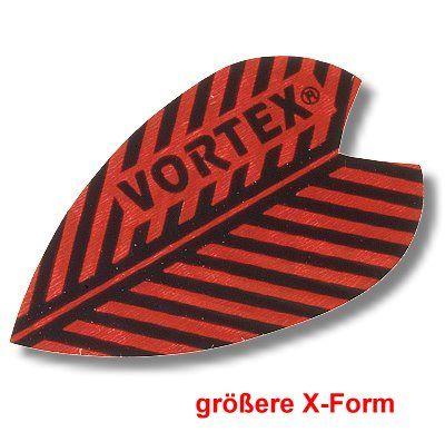 Dartfly Vortex, Form X (größere Form), rot